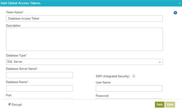 Example) Create a Database Access Token