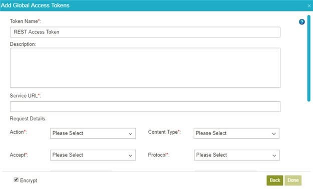 Example) Create a REST Service Access Token