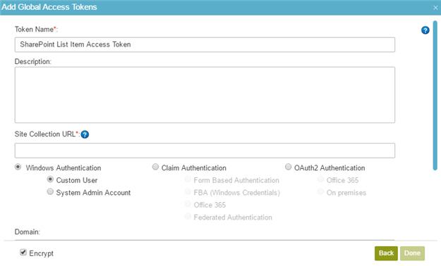 Example) Create a SharePoint Access Token