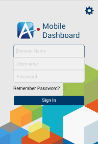 Mobile Dashboard Sign In screen