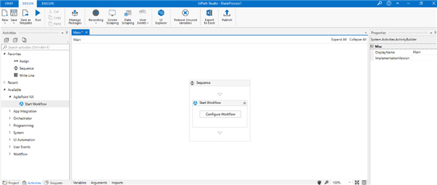 UiPath Studio screen