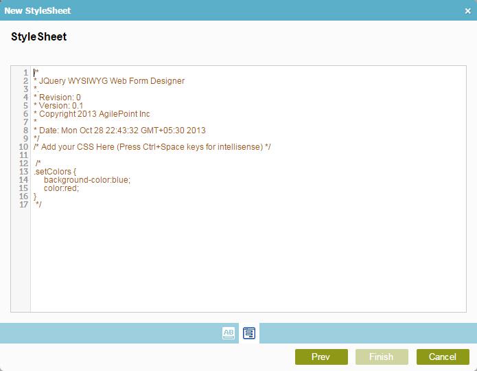 CSS StyleSheet Screen