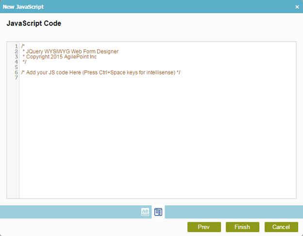JavaScript Code Screen