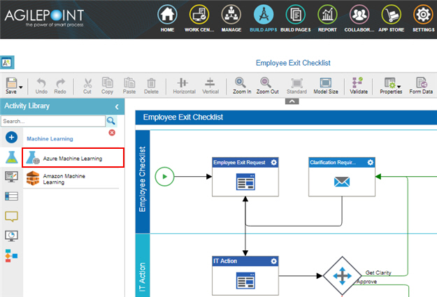 Process Activities for Microsoft Azure Machine Learning