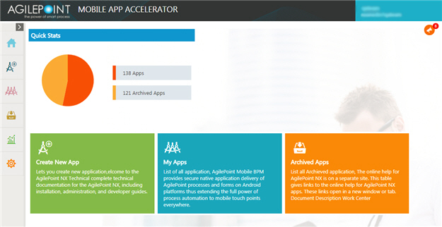 Mobile App Accelerator home screen