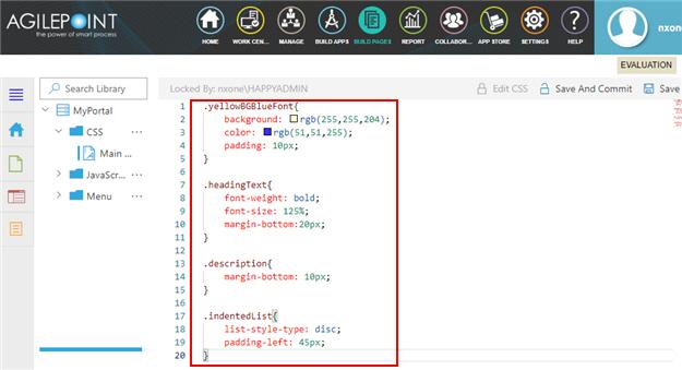 CSS File Screen