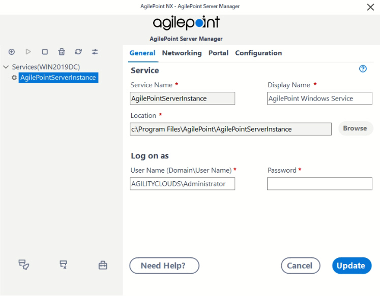 AgilePoint Server Manager