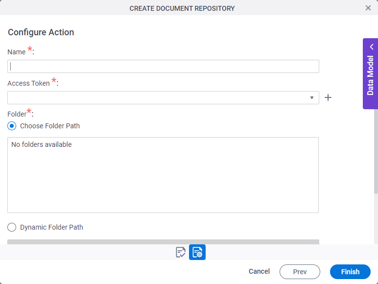 Sample file repository for eForm configuration screen