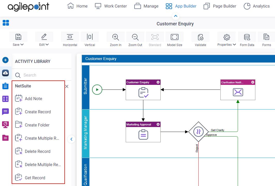 Process Activities for NetSuite
