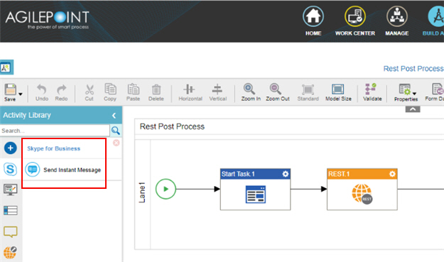 Process Activities for Skype for Business